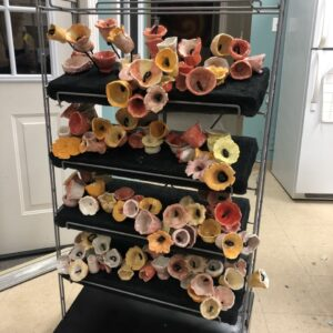 """creating the """"rack"""" of flowers"""